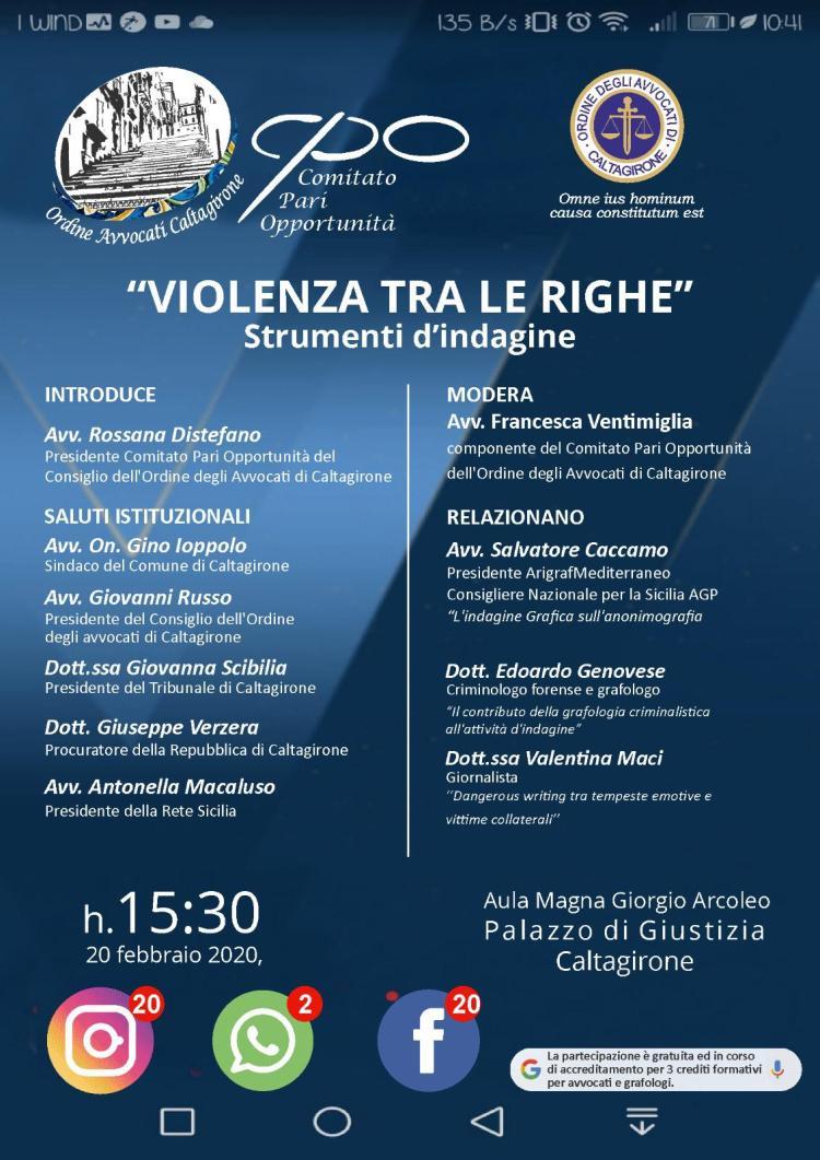 EVENTO CPO_ VIOLENZA TRA LE RIGHE